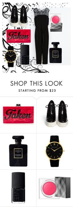 """Taken"" by laurie38 ❤ liked on Polyvore featuring Edie Parker, STELLA McCARTNEY, Chanel, Larsson & Jennings, NARS Cosmetics and Burberry"