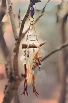 The Bohemian Collective: Earth Medicine // antler dreamcatcher by @Jennifer…