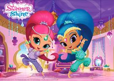 Free Printable Shimmer and Shine Placemats Shimmer And Shine Decorations, Shimmer And Shine Cake, Princess Party Invitations, Birthday Party Invitations, Shopkins, Birthday Banner Template, My Little Pony Dolls, Phineas Y Ferb, 4th Birthday Parties