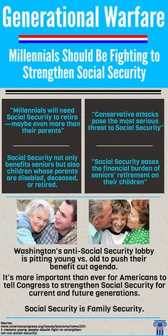 There are many reasons why Millennials should want to strengthen #SocialSecurity. It is a vital program for current and future generations.