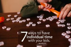 7 Ways to Have Individual Time with Your Kids.  From Scheduling time, to being spontaneous, to taking them with you.  {finding_joy}