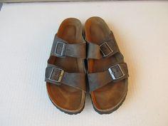 Birkenstock men sandals size 46 / 13 Taupe Leather Germany #Birkenstock #Slides