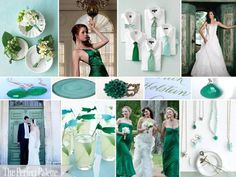 love this color palette; Aqua, Dusty Aqua, Teal, Kelly Green, Light Green and White