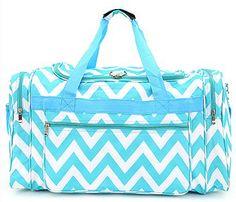 Chevron Turquouse Duffle Bag Personalized  by EmagesEmbroidery, $24.99