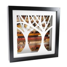 Brown Tree Shadowbox Medium now featured on Fab.