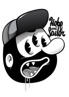 HOBO HEAD   Illustrator: Hobo and Sailor Design