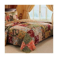 French Country Patchwork Cotton Bedspread Set Oversized French Country Patchwork Pattern 100 percent Cotton Reversible Bedspread and Shams Set. Oversized quilt set that goes to the floor, no need a bed skirt. Vintage Style Floral design bedding set made Rustic Bedroom Decor, Country Bedding, Bedspread Set, Bedding Set, Country Decor, French Country Bedrooms, Home Decor, Bedroom Decor, Luxury Bedding