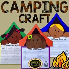 A camping themed craft activity - perfect for thinking about summer activities!