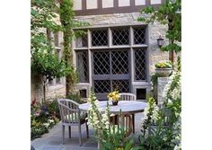 Casement Windows    Although some Tudor homes feature double-hung windows, they almost always have at least one set of casement windows