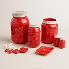 http://www.bkgfactory.com/category/Measuring-Cups/ Red Mason Jar Measuring Cups   World Market