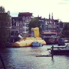 strange houseboat in Amsterdam