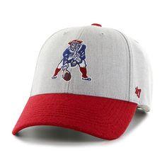 New England Patriots 47 Brand Gray Red Legacy 1965 Munson MVP Adjust Hat Cap 5b62708aae8