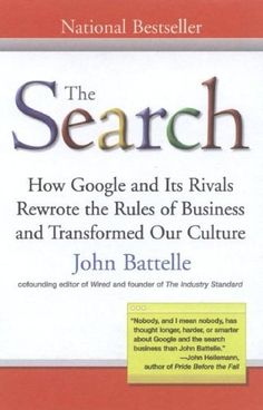 The Search: How Google and Its Rivals Rewrote the Rules of Business andTransformed Our Culture by John Battelle, http://www.amazon.com/dp/1591841410/ref=cm_sw_r_pi_dp_X9scrb08TRJ3C