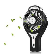 Monkibag USB Desk Fan Potrable Mini Handheld USB Desktop Fan LED Filling Light Phone Holder Cooling Fan Color : Black, Size : One Size