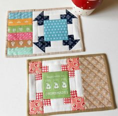 Looking for your next project? You're going to love Patchwork Corners Mug Rug by designer The Patchsmith.