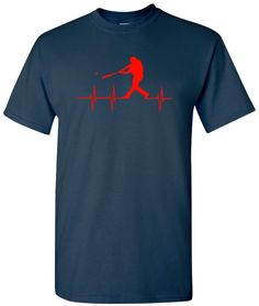 Baseball Shirt Sports Shirts Baseball Shirts Baseball T-Shirt Baseball Tee Baseball Heartbeat Shirt Baseball T-Shirt Baseball Batter Shirt Game Day Shirts, Fathers Day Shirts, Baseball Shirts, Sports Shirts, Sports Baseball, East Coast Hip Hop, Baseball Batter, Mobb Deep, Plus Size Tees