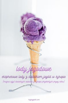 No-Churn Wild Blueberry Ice Cream Sorbet, Blueberry Ice Cream, Frozen Desserts, Ice Cream Recipes, Popsicles, Gelato, Food Photo, Food Art, Cake Recipes