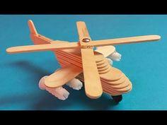 Como hacer un helicóptero con palillos de helado. Muy fácil - YouTube Popsicle Stick Crafts House, Popsicle Sticks, Craft Stick Crafts, Paper Flowers Craft, Flower Crafts, Helicopter Craft, Diy Arts And Crafts, Diy Crafts, Diy For Kids
