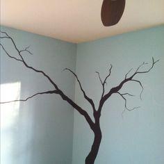 My wall tree in progress.