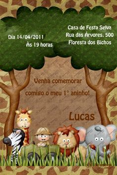 Convite Digital - Safari #4