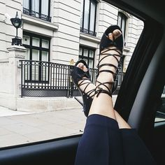 Malone Souliers on Park and Cube's Instagram. #MaloneSouliers #ParknCube #LondonFashionWeek #LFW #shoes #fashion