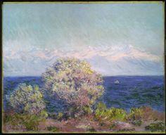 Claude Monet, Cap d'Antibes, Mistral 1888.