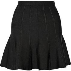 Hervé Léger Bandage mini skirt (€320) ❤ liked on Polyvore featuring skirts, mini skirts, black, mini skirt, hervé léger, bandage skirt, bandage mini skirt and short mini skirts