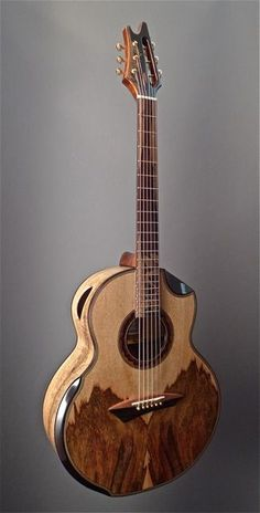 The Mango Tree (acoustic guitar) : :  Jeffrey Yong, luthier : : body made of old growth mango tree wood.
