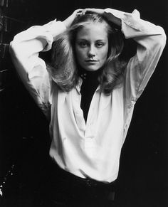 Cybill Shepherd smoldered during a portrait in New York City. Her outfit of choice? A timeless crisp white shirt.