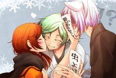 Kamisama Hajimemashita - Tomoe being denied a kiss for Nanami by Mizuki