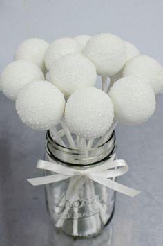 white sparkle sugar pops by Sweet Lauren Cakes, via Flickr