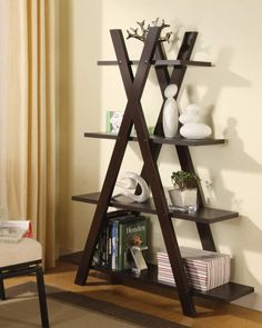 Shop Coaster Furniture Cappuccino Wood 4 Shelves Bookcase with great price, The Classy Home Furniture has the best selection of Bookcases to choose from 4 Shelf Bookcase, Etagere Bookcase, Bookcases, Bookshelf Diy, Black Bookshelf, Barrister Bookcase, Corner Bookshelves, Book Shelves, Open Shelves