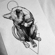Sphynx  em breve adesivos ✌️coming soon stickers✌️#electricink  @inkonik_tattoo_studio