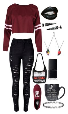 """""""I'm gonna be single tomorrow..yup...it's fine completely fine 😭😭😂"""" by xxghostlygracexx ❤ liked on Polyvore featuring Vans and NARS Cosmetics"""