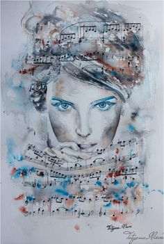 "Tristesse \ Watercolor by Tatyana Ilieva. \ other pictures on the board "" Ballet, dance, music - painting """