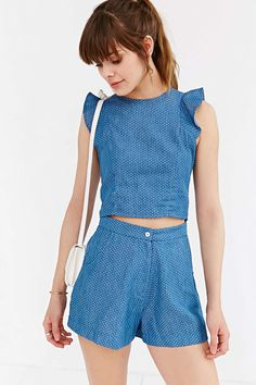 Oh My Love Denim Spot Short - Urban Outfitters