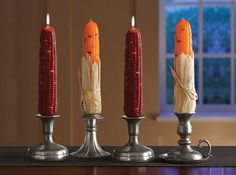 Decorative Indian Corn Candles..Love these