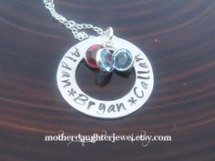 CUSTOM Hand Stamped Washer Necklace Open by MotherDaughterJewel, $40.00