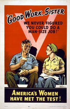 women were always seen as less than men. In reality women are stronger than men not physically but mentally. Ww2 Posters, Vintage Ads, Vintage Advertisements, Vintage Posters, Funny Vintage, Vintage Metal, School Advertising, Funny Advertising, Women In History