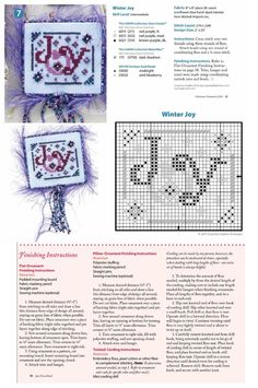 Cross Stitch XS Winter Joy Ornament, Just Cross Stitch Christmas Ornaments 2014, Vol. 32, No. 6 - Turquoise Graphic & Design