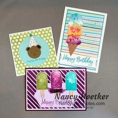 Paper Cards, Paper Gifts, Ice Cream Punch, Wink Of Stella, Stampin Up Catalog, Stamping Up Cards, Crafts For Teens, Pattern Paper, Cardmaking