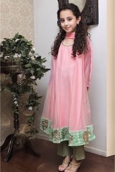Eid ul Azha kids wear collection consists dresses by Maria B only for little girls.Check traditional style dresses for little girls designed specially for Eid. Kids Dress Wear, Kids Wear, Pakistani Dresses, Indian Dresses, Pakistani Suits, Indian Suits, Indian Wear, Kids Party Wear, Kids Ethnic Wear