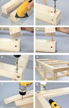 telaio divano in legno