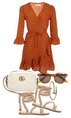"""Untitled #22146"" by florencia95 ❤ liked on Polyvore featuring Cartier, Gucci, Illesteva and Faithfull"
