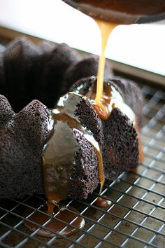 Low Carb Chocolate Cake with Stout Caramel Sauce | All Day I Dream About Food