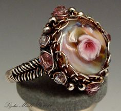 lampwork ring by Lydia Muell