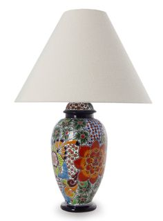 Mexican Pottery - Talavera Lamp | MEXICAN POTTERY | Pinterest ...