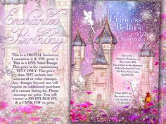 Fairy Princess Party Invitation Birthday Party by BellaLuElla, $11.00