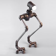 CA New Robot Light Modern Handmade Industrial Vintage Water Pipe Plumbing Pipe Robot Desk Lamp Novelty