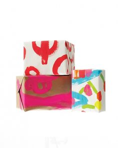 Repurpose kids' artwork as gift wrap!